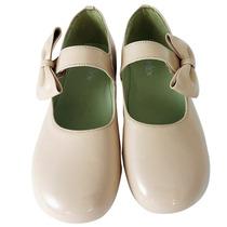 11020 - Sapato Boneca Social Laço Em Couro Diversas Cores
