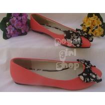 Preço De Custo Sapato Sapatilha Salmão Rosa Laço C/ Caveiras