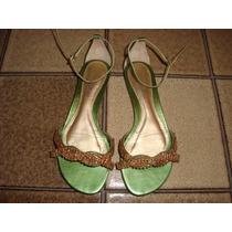 Sandalia Com Pedras Testone N. 33 - Cor Verde