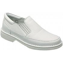 Sapato Branco Masculino Linha Relax Couro Legítimo 36 Ao 47