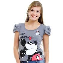Mickey Disney Blusinha Cinza Tam M