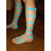 Sandalia Gladiadora Em Couro