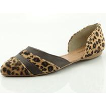 Sapatilha Glamm Recorte Onça Sapatos Mania