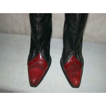 Bota Texana Vintage Maria Gatti Salto Quadrado 38 - Usada