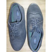 Sapato Social Com Cadarço Couro Bico Redondo Usa 13 = 44-45