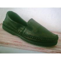 Sapato Couro, Solado Emborrachado, Cor Bronze Escuro Nro. 37