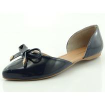 Sapatilha Glamm Recorte Azul Marinho - Sapatos Mania