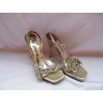 Sandalia Dourada Claudina Nº 34