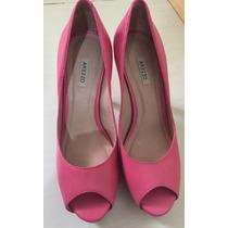 Lindo Sapato Rosa Arezzo Tamanho 35, Quase Novo