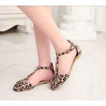 Sandália Flat Leopardo - ***importada*** Frete Gratuito
