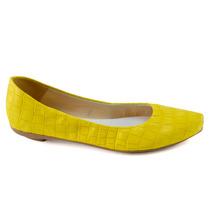 Sapatilha Amarela, Material Croco, Ótima Qualidade Lindas!