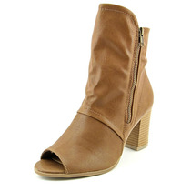 Wild Pair Colfax Mulheres Peep Toe Ankle Boot Synthetic
