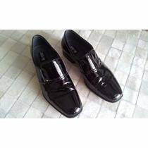 Sapato Social Masculino Couro Verniz - Black Time Original