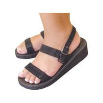Sandália Magnética Sandi C/ Salto Leve 14ímãs Couro Terumi ®