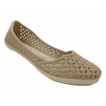 Sapatos Calcado Sandália Sapatilha Tipo Melissa Creme - 2015
