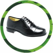Sapato Social Militar, Alto Brilho, Couro Legitimo,padrão Pm