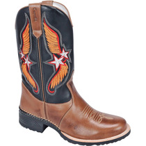 Bota Texana Country Western Em Couro Capelli Boots Ref:6009
