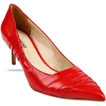 Sapato Scarpin Vermelho Bico Fino Ana Karan Couro Legítimo 8