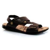 Sandalia Masculina Pegada Couro Legitimo 30725