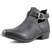 Vybe Couro Bootie Dolly Mulheres Faux