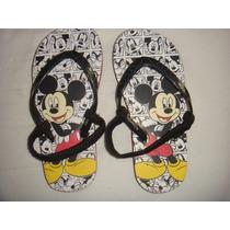 Sandália Chinelo Mickey Disney Alça Atrás Pé Couro Elástico