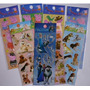 6 Cartelas Adesivos Stickers Peppa Frozen Monster Minions