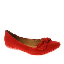 Sapatilha Feminina Bottero 234703 Vermelho Snob Calçados