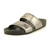 Vince Orion Couro Envernizado Slides Sandália