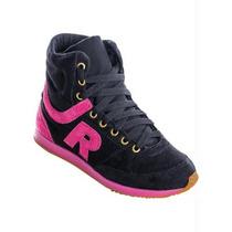 Sneaker Feminino Preto E Rosa Tenis -academia-ginastica