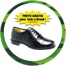 Sapato Social, Alto-brilho, Militar,100%couro, Frete Grátis.