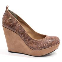 Sapato Cravo E Canela Anabela 136202 | Zariff