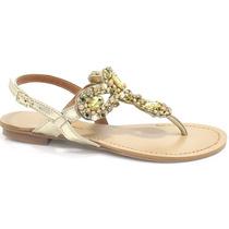 Sandália Zariff Shoes Rasteira Pedras | Zariff