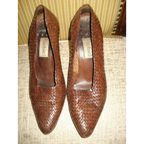Sapato Em Couro Legitimo Trançado Da Raphael No 36