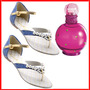 Sandália Com Pérolas Grátis Perfume Importado*