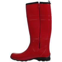 Bota Galocha Com Zíper 11156 Vermelha