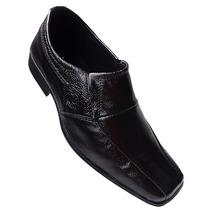 Sapato Social Preto Em Couro - Original -