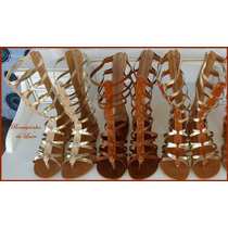 Gladiadoras Alta C/ Ziper - Sandálias - Bonequinha Outlet