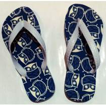 Chinelos Personalizados Corujinha Azul