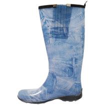 Bota Galocha Jeans Com Elástico 11563