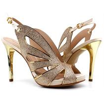 Sandália Salto Cecconello 875003 | Pixolé Calçados