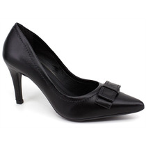 Sapato Scarpin Código Cem 08488 Preto | Pixolé Calçados