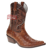 Bota Texana Masculina Escamada Bico Fino - West Country