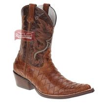 Bota Texana Masculina Escamada Bico Fino - West Country
