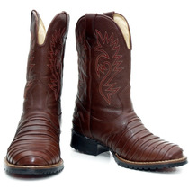 Bota Texana Escamada Country Western Hoper 100% Couro Ref902