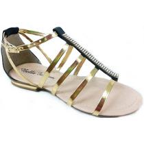 Sandalia Tipo Gladiadora/linda E Barata