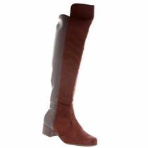 Bota Vizzano Strech Camurça Over The Knee Montaria 3045106