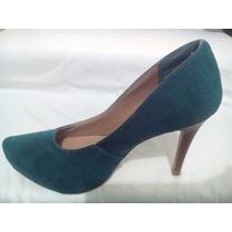 Scarpin Sapato Meia Pata Nobuck Via Uno Feminino Confortável