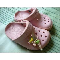 Crocs Original Rosa Claro Pin Da Tinker Bell Modelo Classico