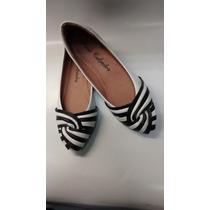 Sapatilha Sapato Feminino Branco E Preto Super Confortável.