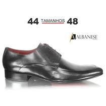 Sapato Social Preto - Albanese - Tamanhos 44 45 46 47 E 48